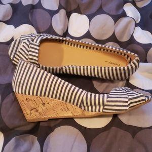 Nautical striped shoes